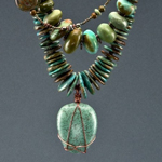 """Contemplation"" necklace by Theresa Blanding"