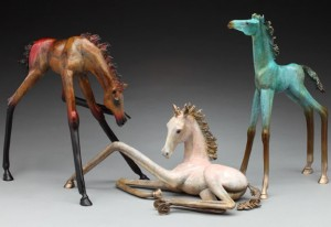 Fanciful horse sculpture by Alex Alvis; prices start at $3,200