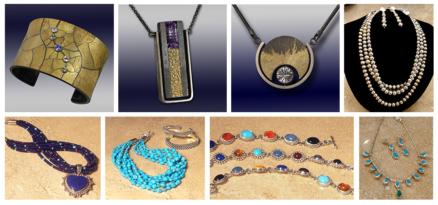 Fine art jewelry by Wolfgang Vaatz and Artie Yellowhorse at Rogoway Gallery