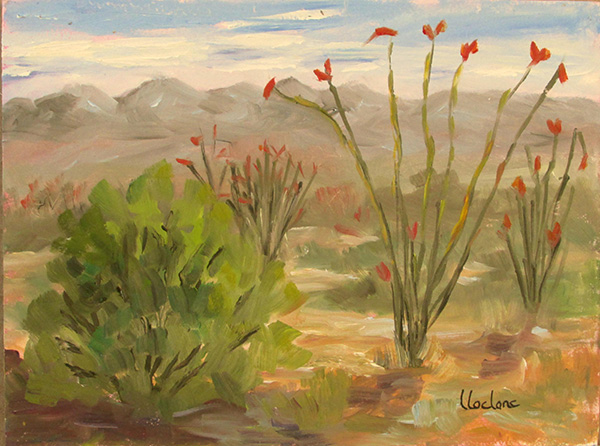 High Lonesome View by Lil Leclerc; plein air - 6x8 - oil 350