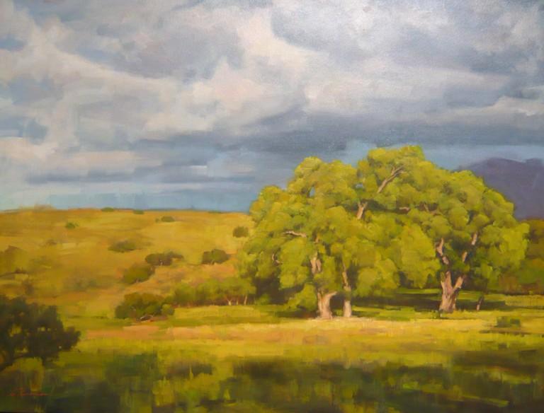 AZ Cottonwoods, Charles Thomas Painting, Rogoway