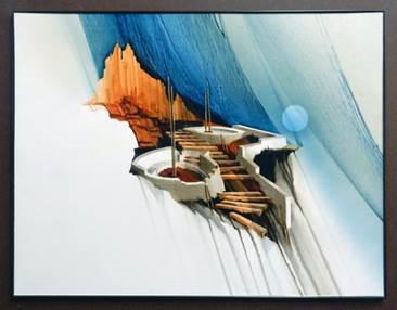 Abandon Shiprock, Albert Dreher, Rogoway Turquoise Tortoise GalleryDreams Mini Print, Albert Dreher, Rogoway Turquoise Tortoise Gallery