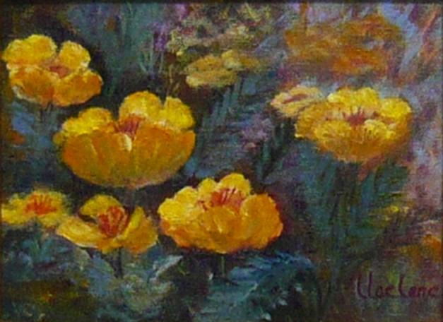 Backyard Poppies 2, Lil Leclerc Painting, Rogoway