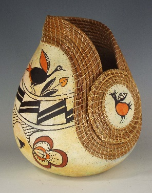 Birds of the Past, Judy Richie Gourd Art, Rogoway Gallery