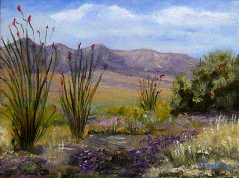 Bisbee Spring, Lil Leclerc Painting, Rogoway