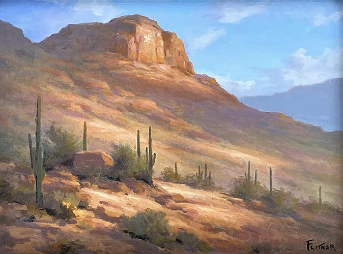 Desert Cliff, David Flitner, Rogoway Gallery
