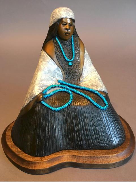 Grandma's Beads, Felicia Sculpture, Rogoway Turquoise Tortoise Gallery
