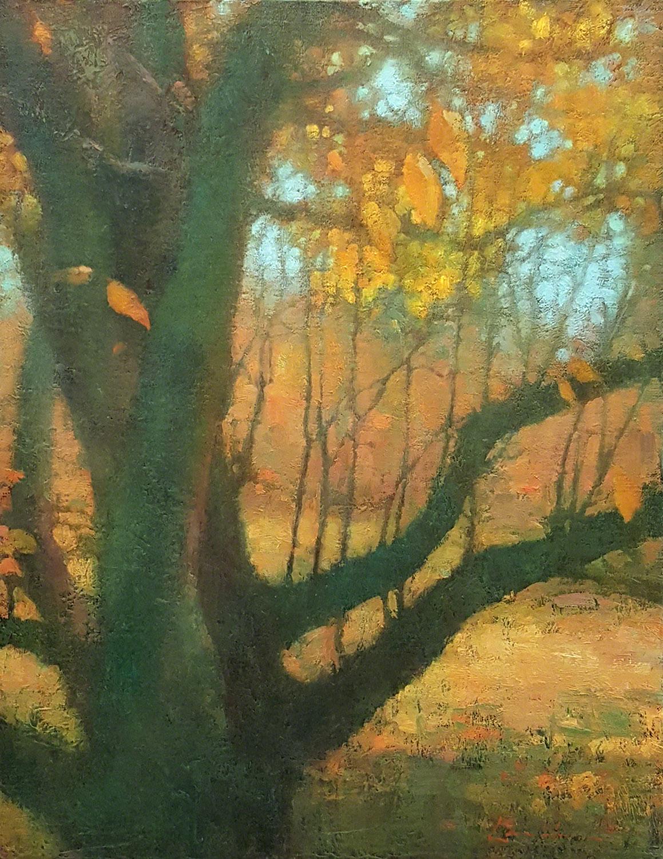 Green & Gold, Lisa Larrabee Painting, Rogoway