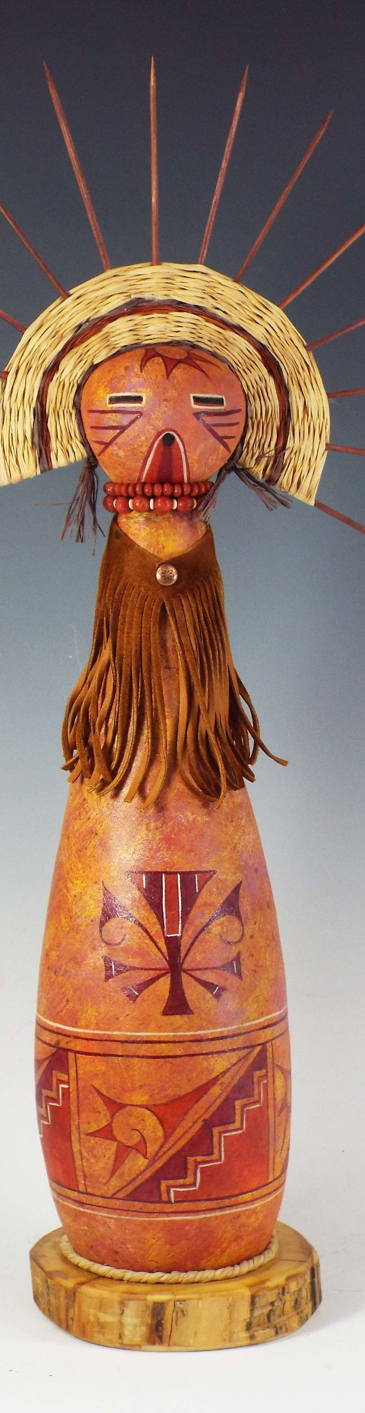 Gretchen, Judy Richie Gourd Art, Rogoway Gallery