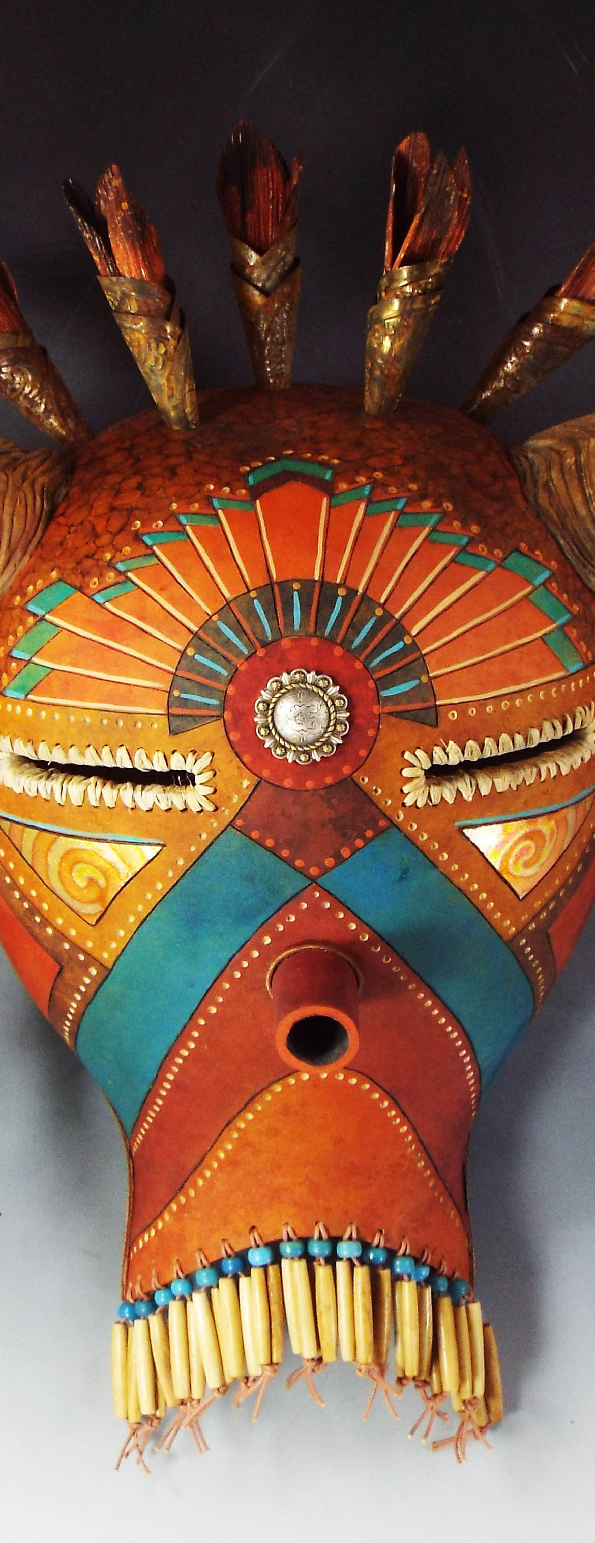 Jingle Cones, Judy Richie Gourd Art, Rogoway Gallery