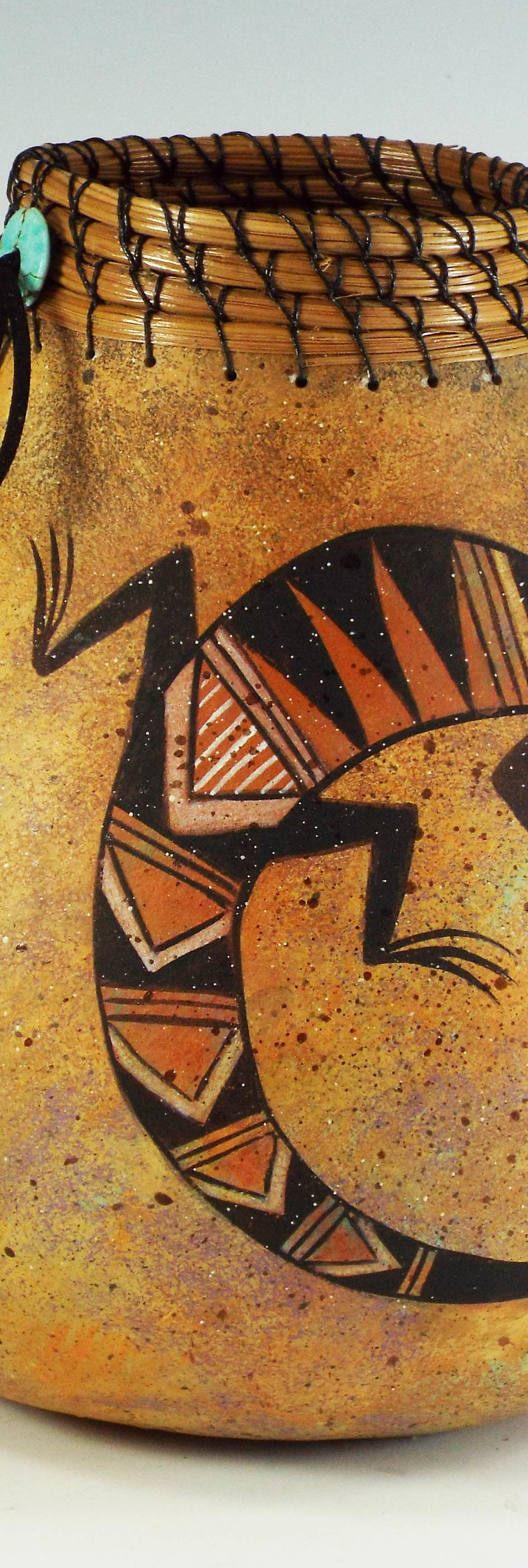 Lizards Galore, Judy Richie Gourd Art, Rogoway Gallery
