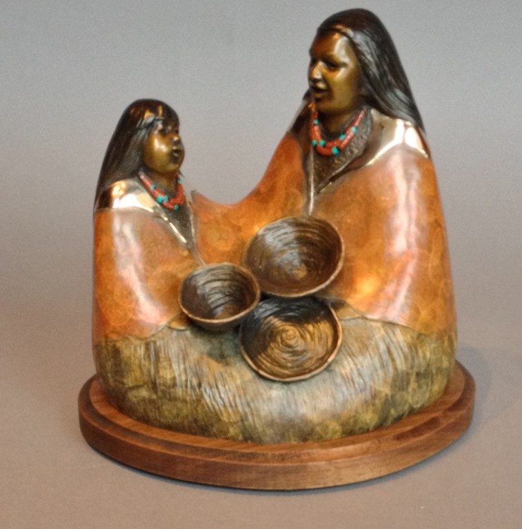 Mom's Baskets, Felicia Sculpture, Rogoway Turquoise Tortoise Gallery