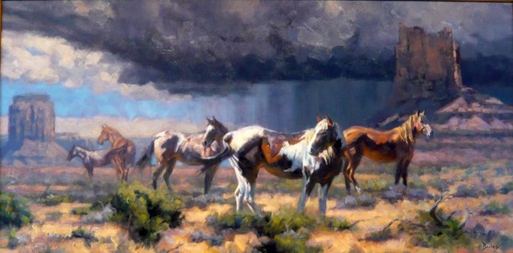 Monsoon Season, Brandon Bailey Painting, Rogoway
