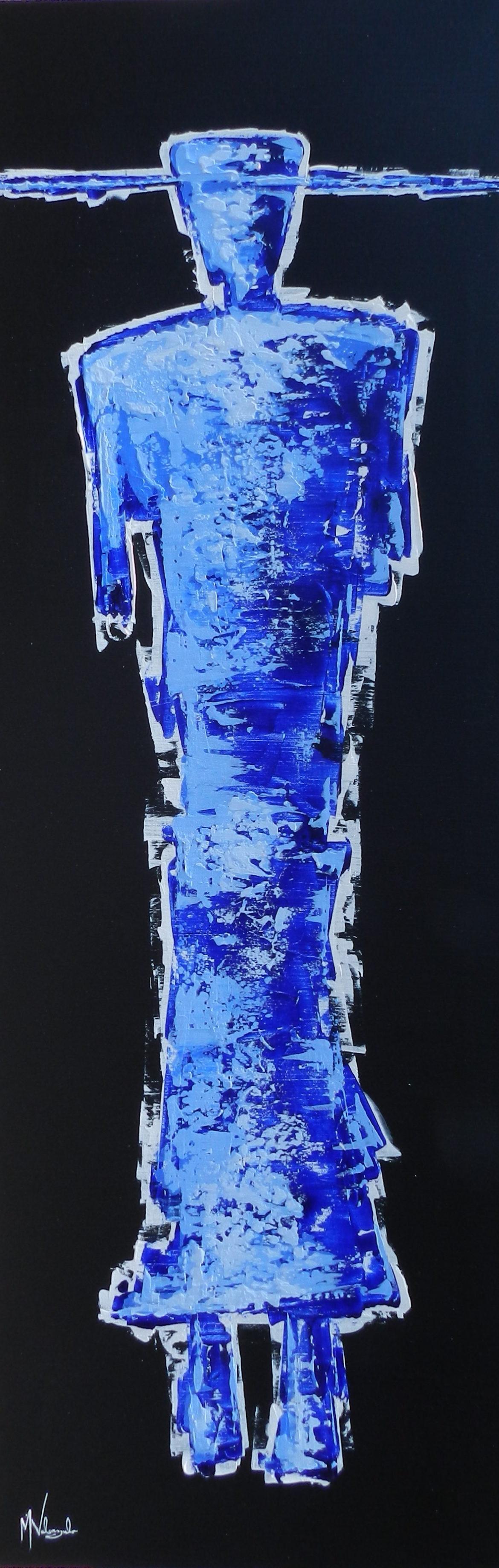 Mr. Blue, Manny Valenzuela, Painting, Rogoway Gallery