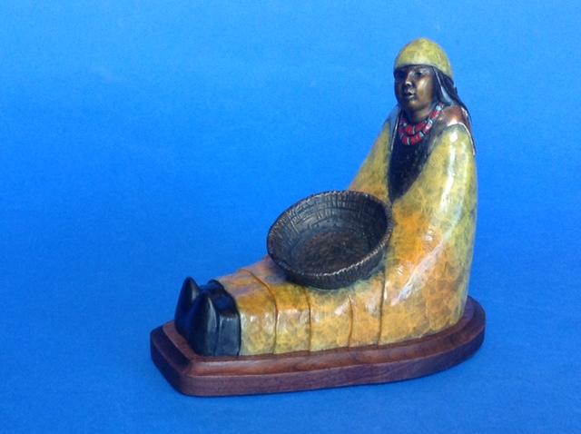 My Basket, Felicia Sculpture, Rogoway Turquoise Tortoise Gallery