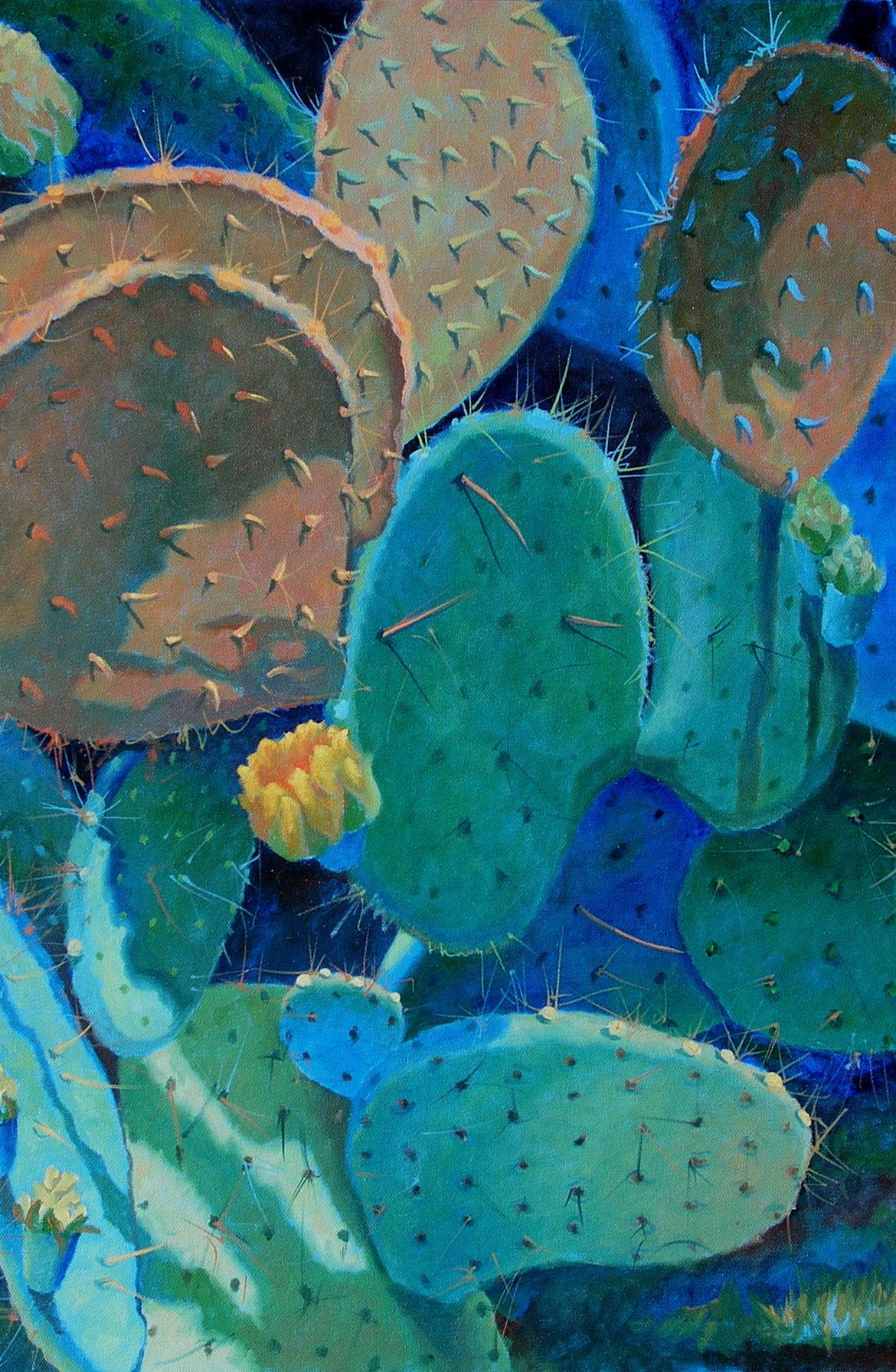 Prickly Pear Pattern, Sharon Weiser, Rogoway Gallery