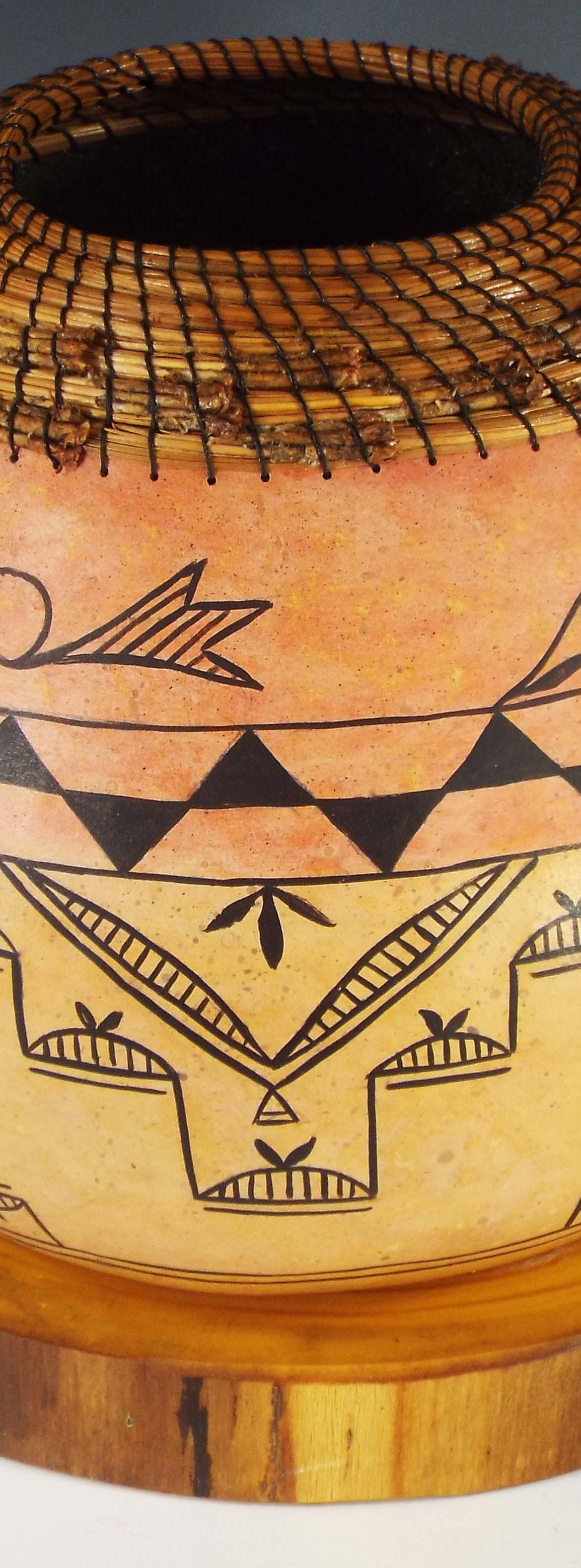 Pueblo Style, Judy Richie Gourd Art, Rogoway Gallery