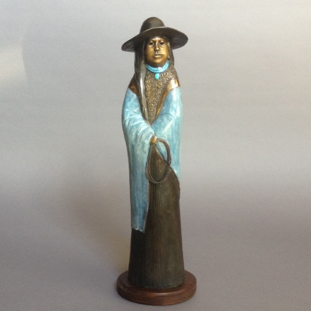 Young Roper, Felicia Sculpture, Rogoway Turquoise Tortoise Gallery