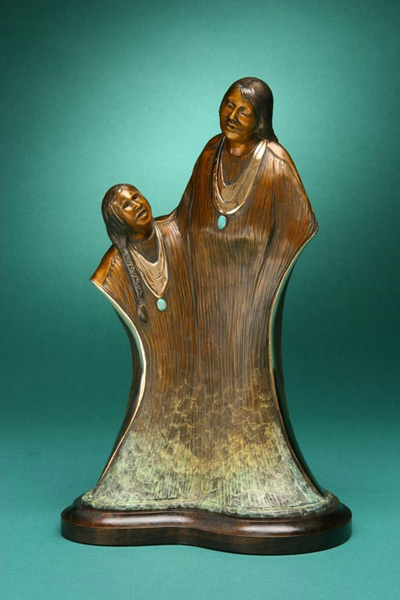 Big Sister, Felicia Sculpture, Rogoway Turquoise Tortoise Gallery