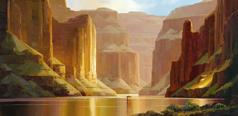 Mystic Waters, Charles Pabst Giclee, Rogoway Gallery