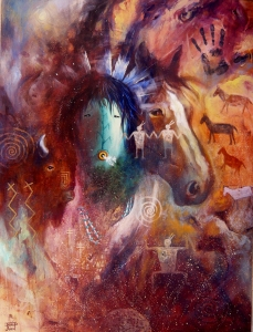 Our Gift, David K John, Painting, Rogoway