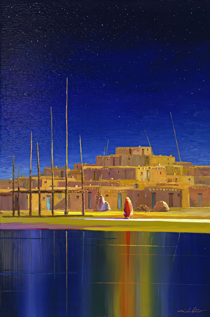 Taos Enchantment, Charles Pabst Giclee, Rogoway Gallery