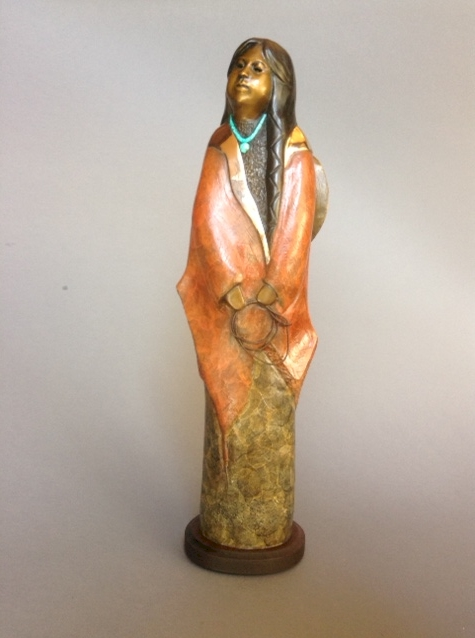 Young Cowgirl, Felicia Sculpture, Rogoway Turquoise Tortoise Gallery