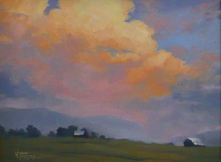 Study: Storm Clouds Over Mormon Row, Walter Porter