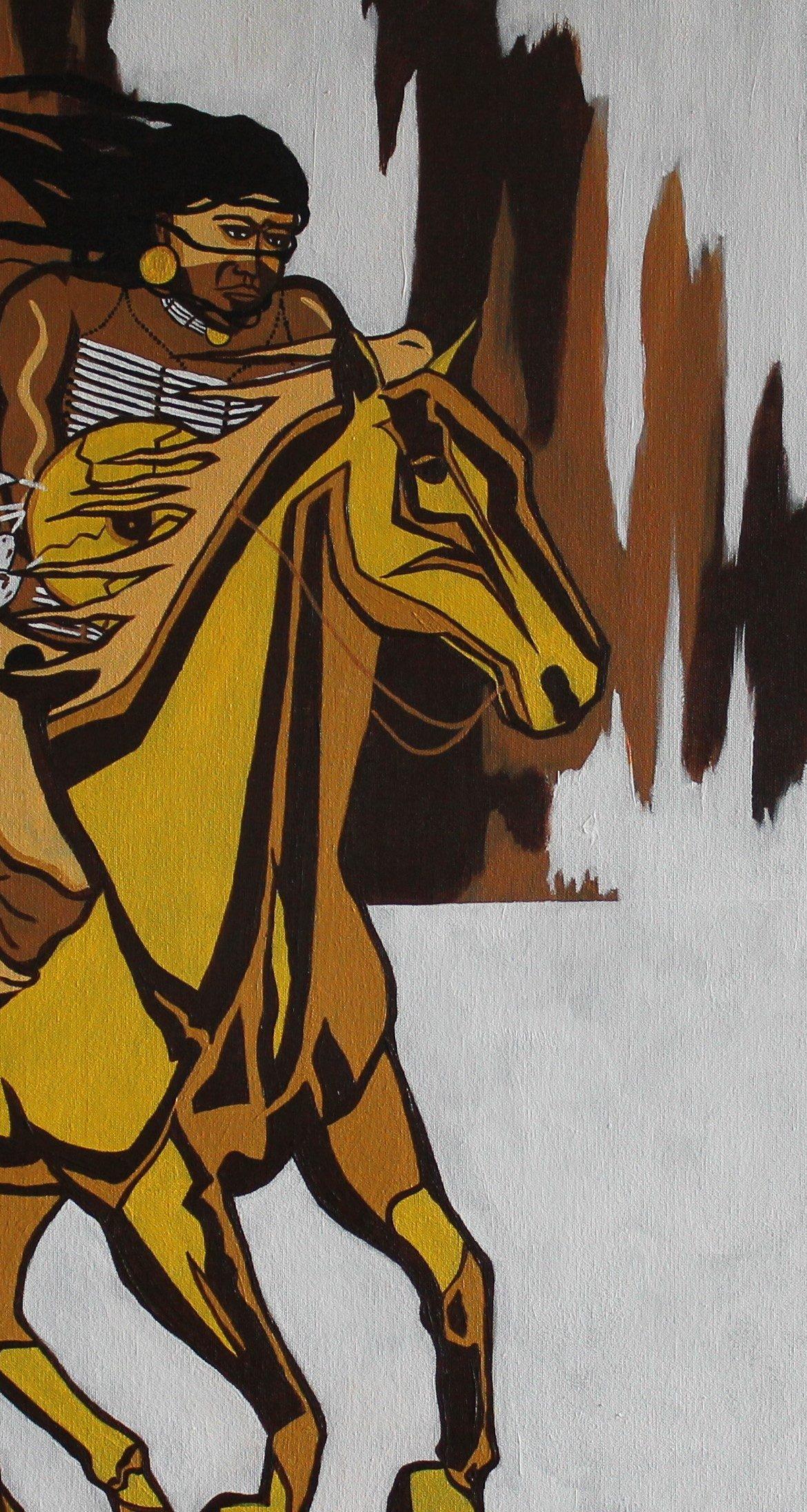 ComancheTwilight, Eric Tippeconnic Painting, Rogoway