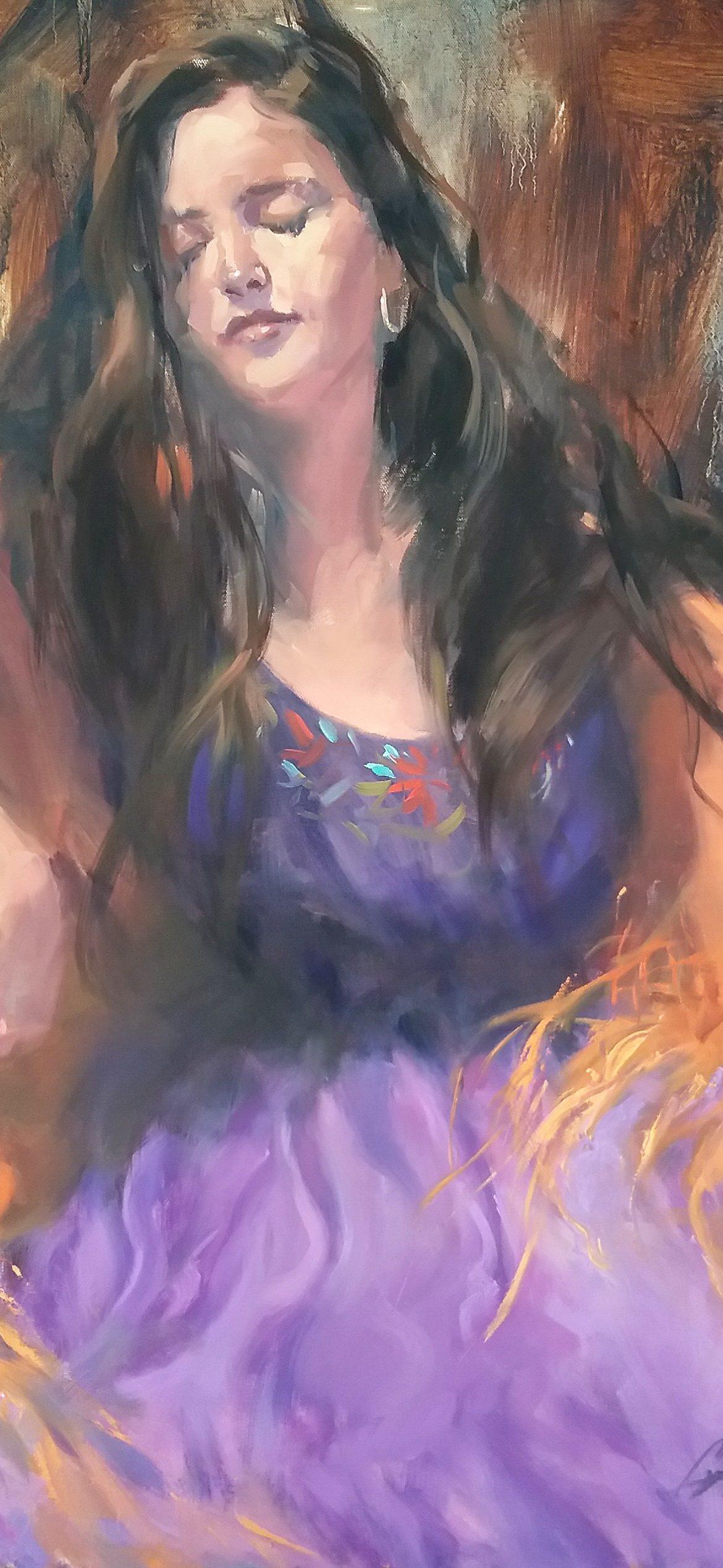 The Dancing Gypsy, Gretchen Lopez, Rogoway Gallery