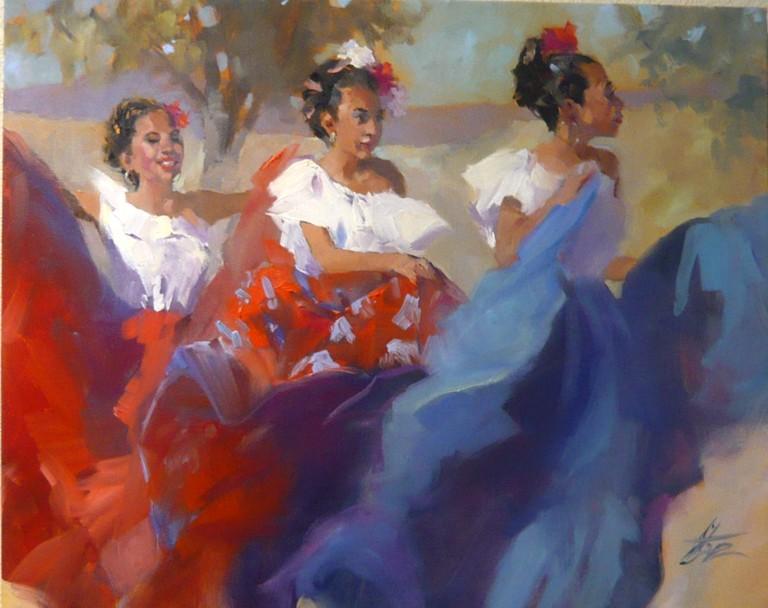 Tres Hermanas, Gretchen Lopez, Rogoway Gallery