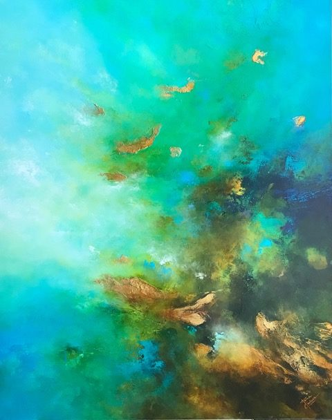 Deep Waters, Anna Carlson, Painting, Rogoway Gallery