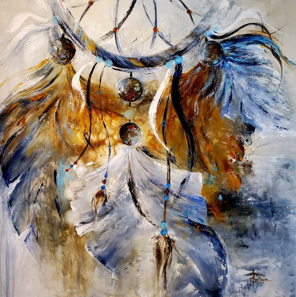 Dreamcatcher, Anna Carlson, Painting, Rogoway Gallery