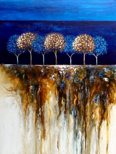Lies Beneath, Anna Carlson, Painting, Rogoway Gallery