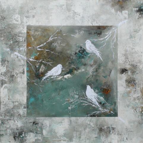 Mystic Birds, Anna Carlson, Painting, Rogoway Gallery