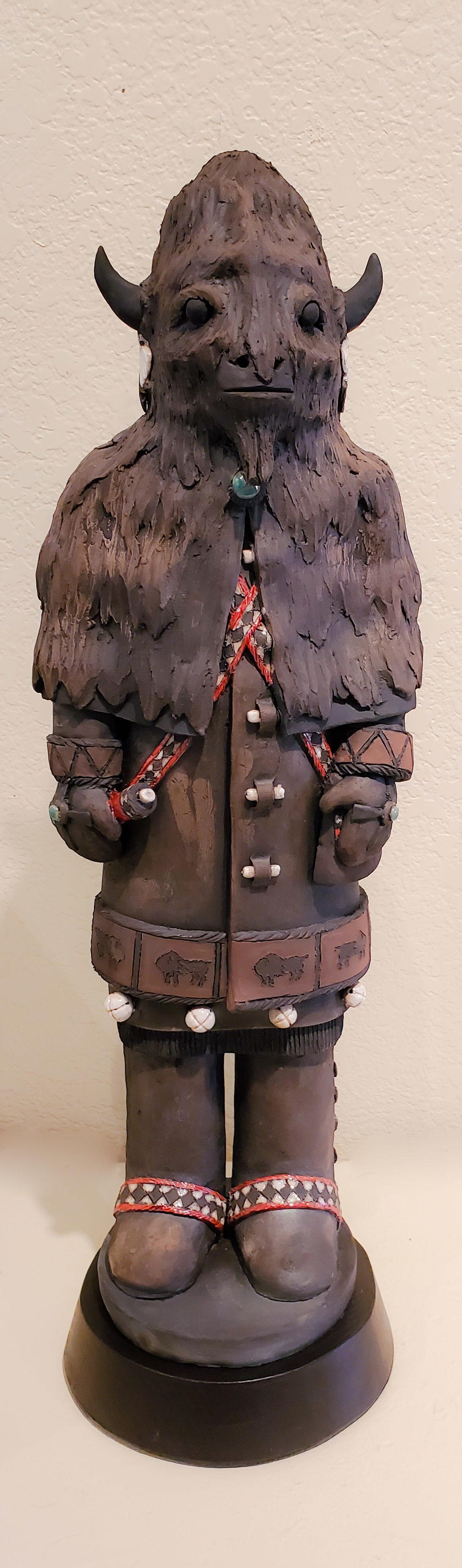 Buffalo #1, John Booth, Ceramic Sculpture, Rogoway Gallery