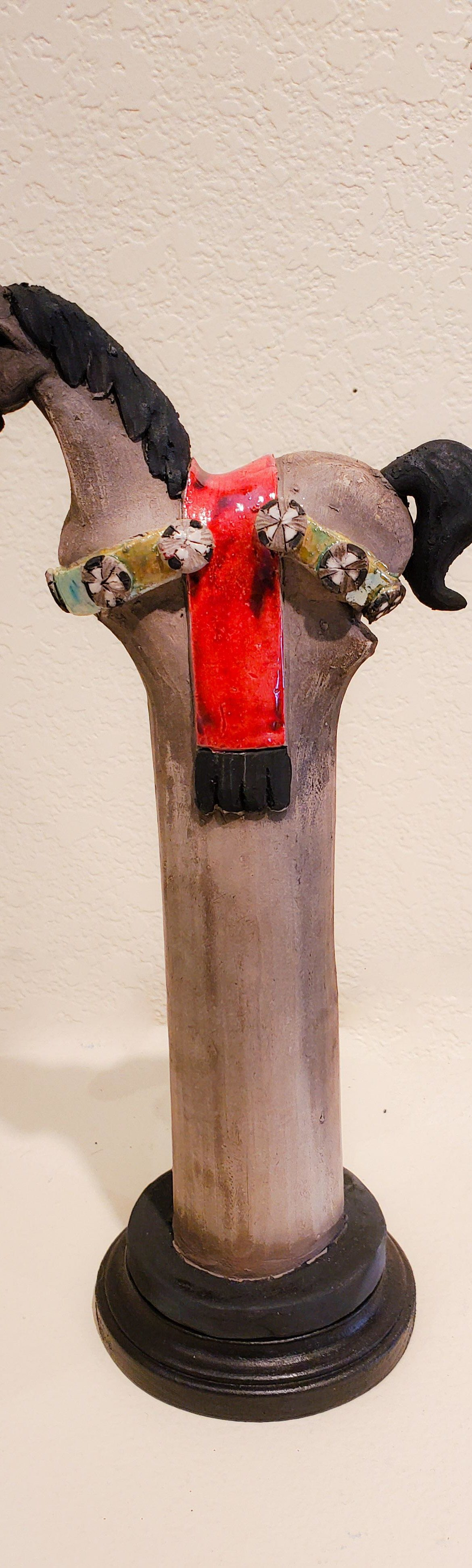 Painted Pony #10, John Booth, Ceramic Sculpture, Rogoway Gallery
