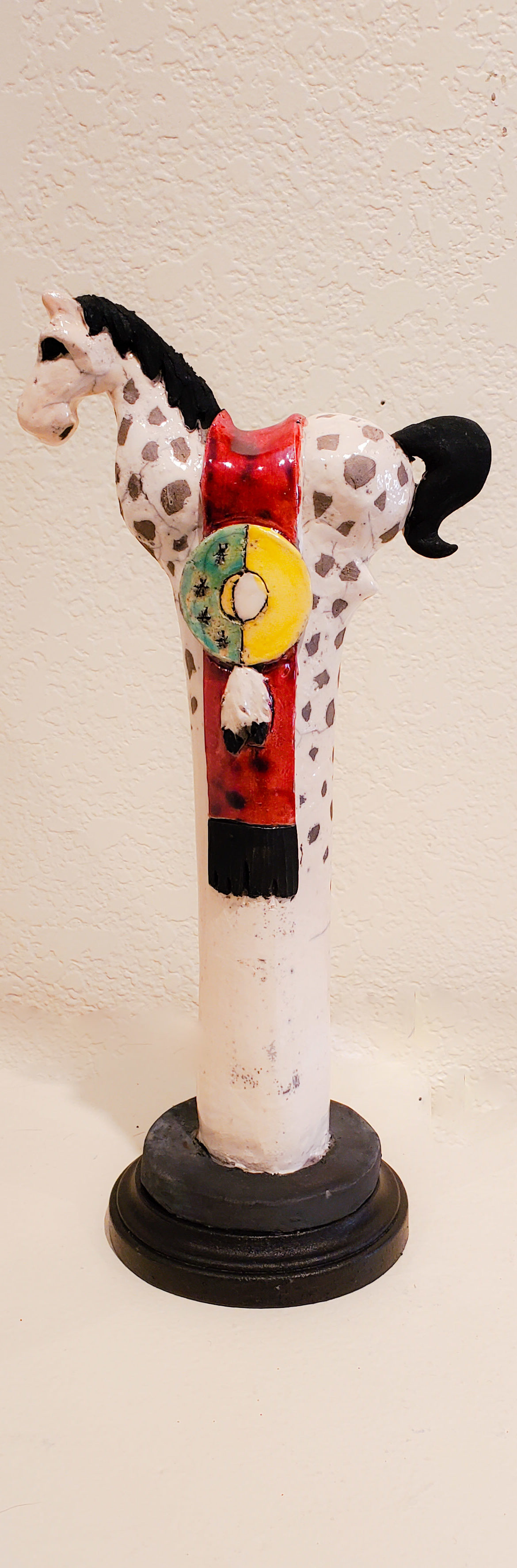 Painted Pony #11, John Booth, Ceramic Sculpture, Rogoway Gallery
