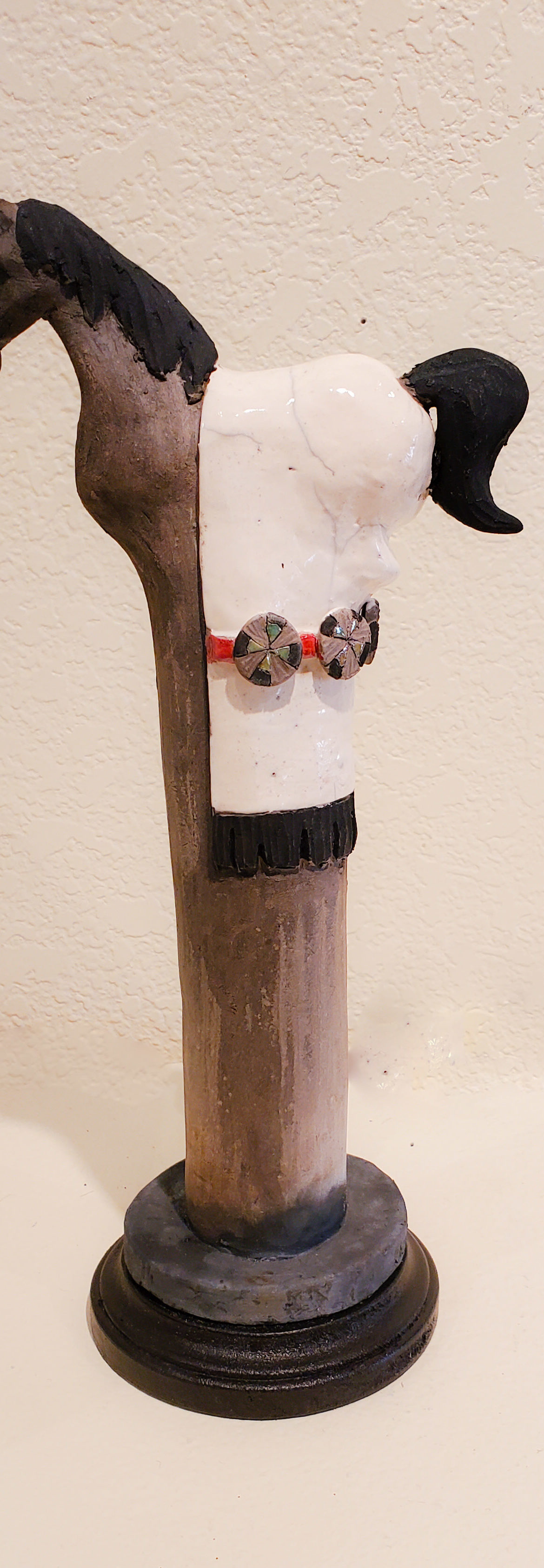 Painted Pony #13, John Booth, Ceramic Sculpture, Rogoway Gallery