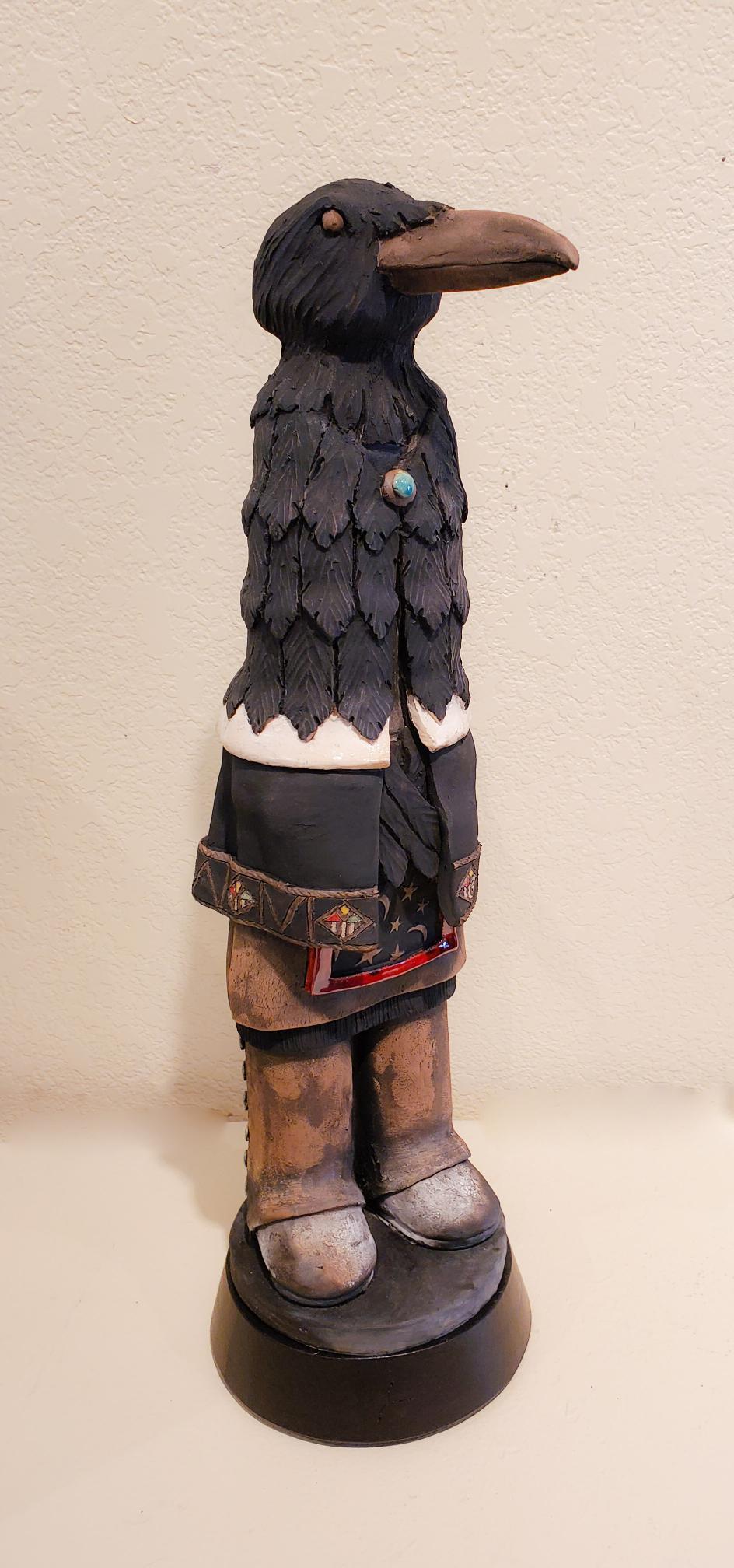 Raven #4, John Booth, Ceramic Sculpture, Rogoway Gallery