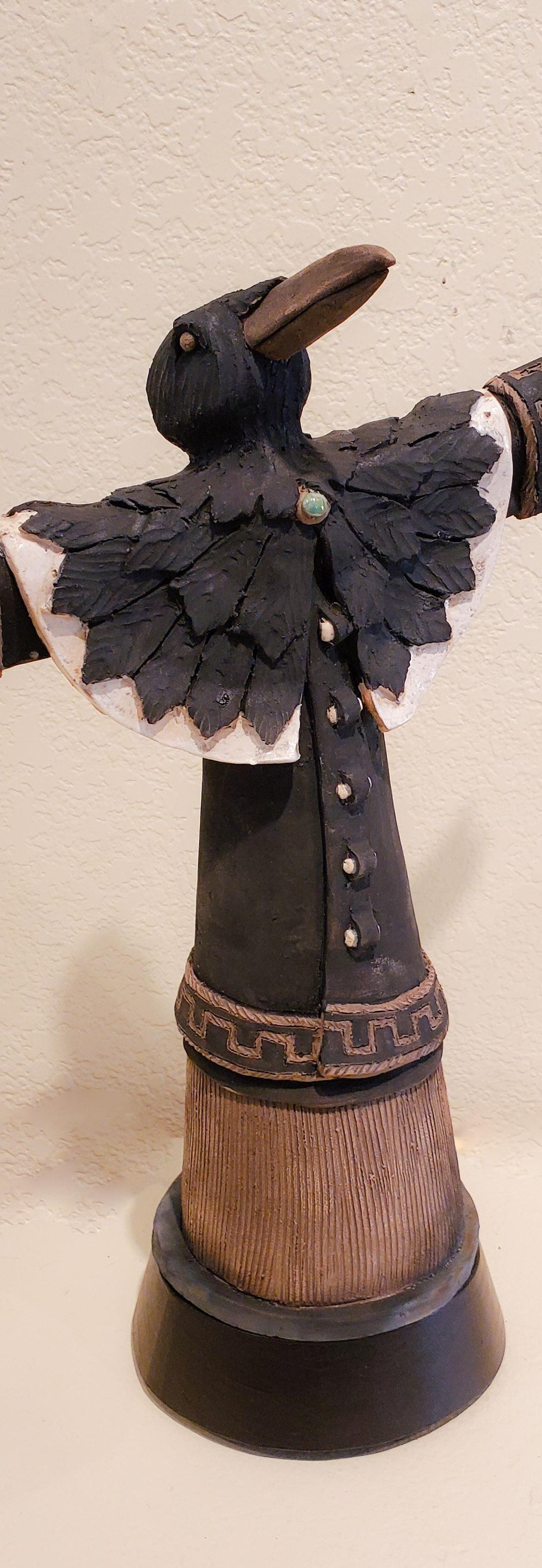Dancing Raven #5, John Booth, Ceramic Sculpture, Rogoway Gallery