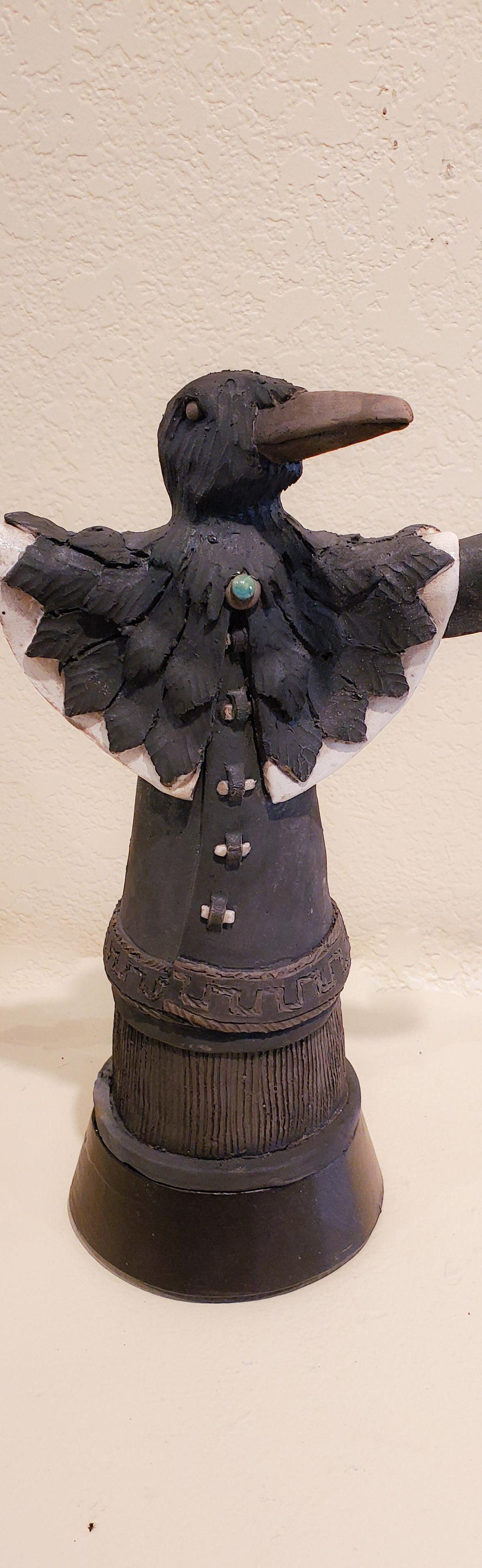 Dancing Raven #8, John Booth, Ceramic Sculpture, Rogoway Gallery