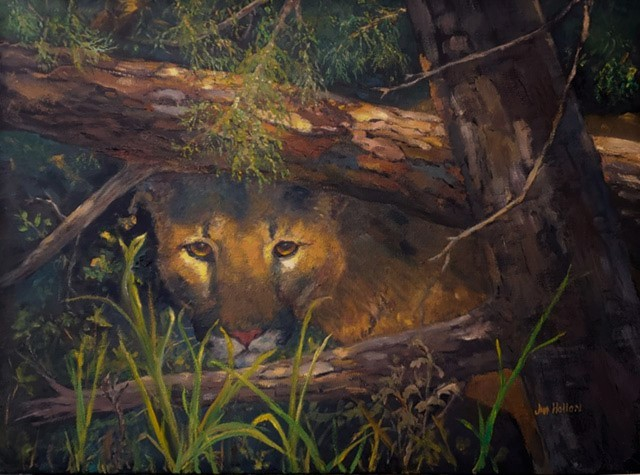 Forest Sentry, Jim Hollon, Painting, Rogoway Gallery