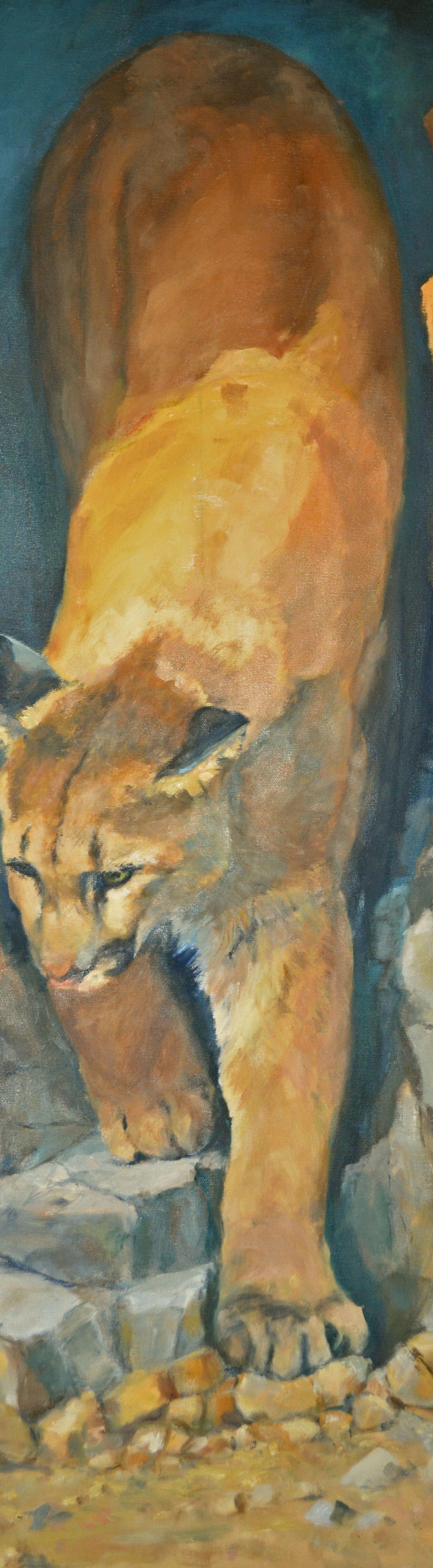 Mountain Cat, Jim Hollon, Painting, Rogoway Gallery