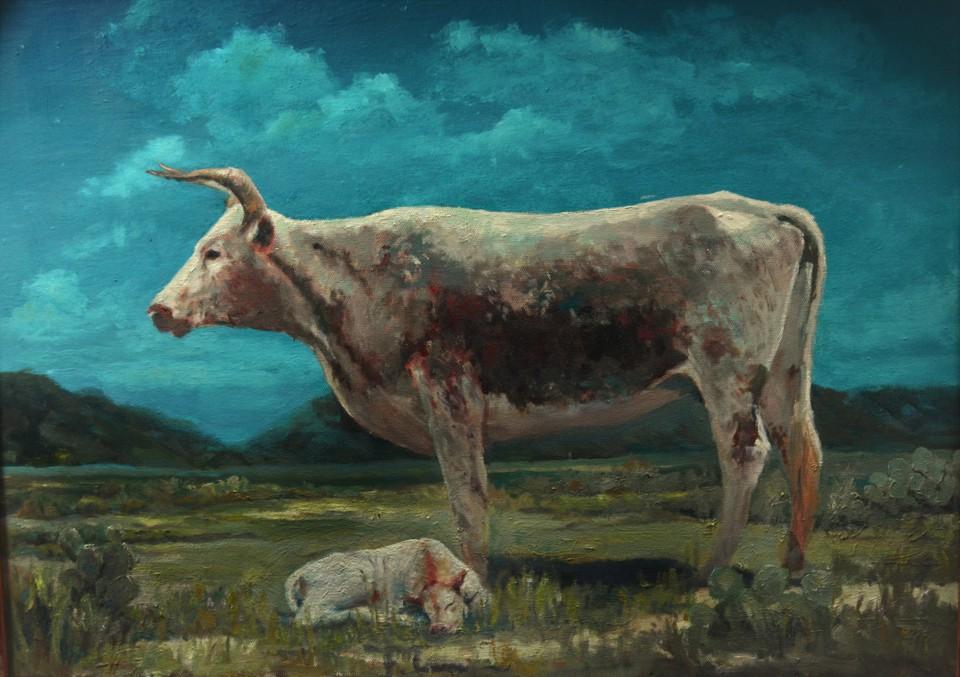 Night Watch, Jim Hollon, Painting, Rogoway Gallery