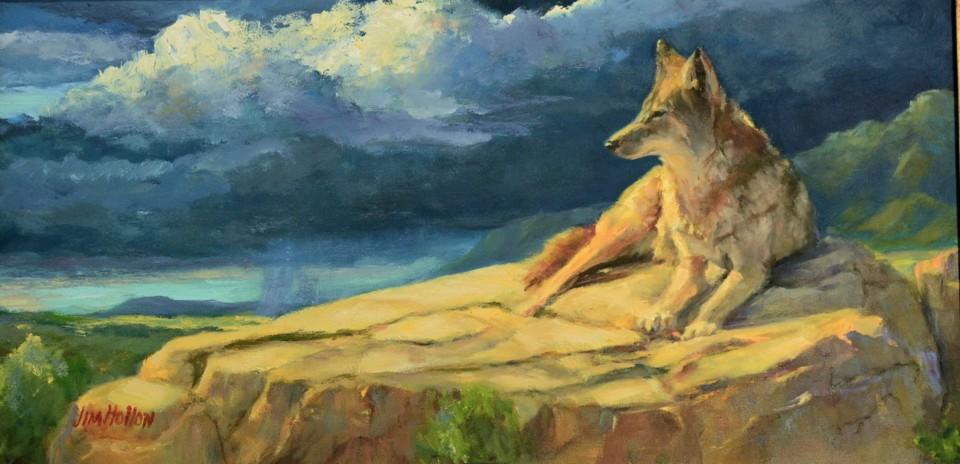 Storm Watcher, Jim Hollon, Painting, Rogoway Gallery