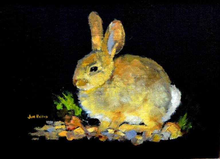 Sun Bunny, Jim Hollon, Painting, Rogoway Gallery