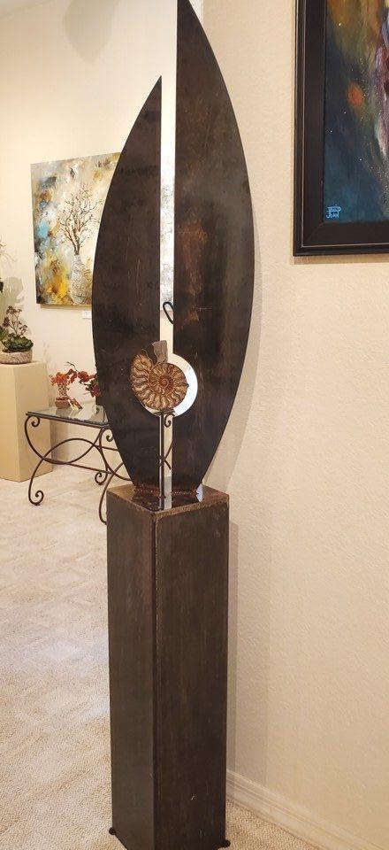 Natilus, John Benedict, Steel Sculpture, Rogoway Gallery