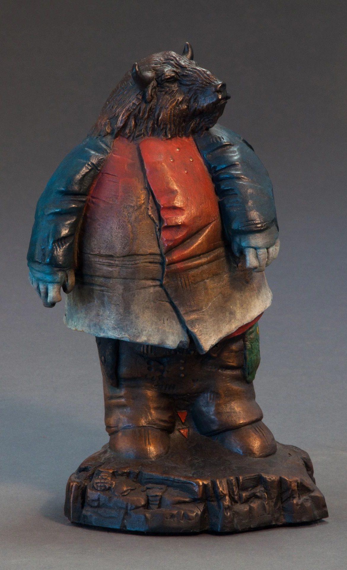 Trust in Might, Brubaker, Bronze Sculpture, Rogoway Gallery