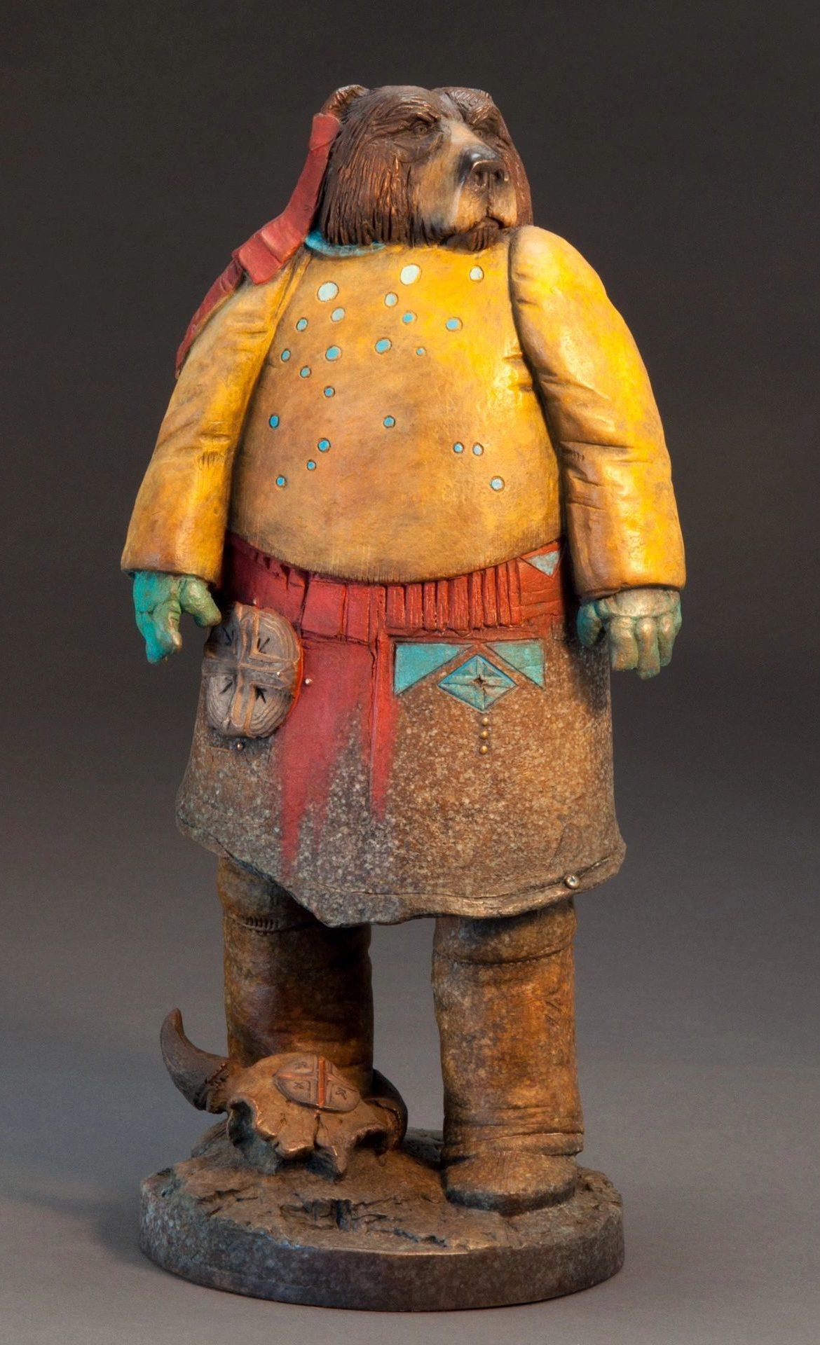 Trust in Reason, Brubaker, Bronze Sculpture, Rogoway Gallery